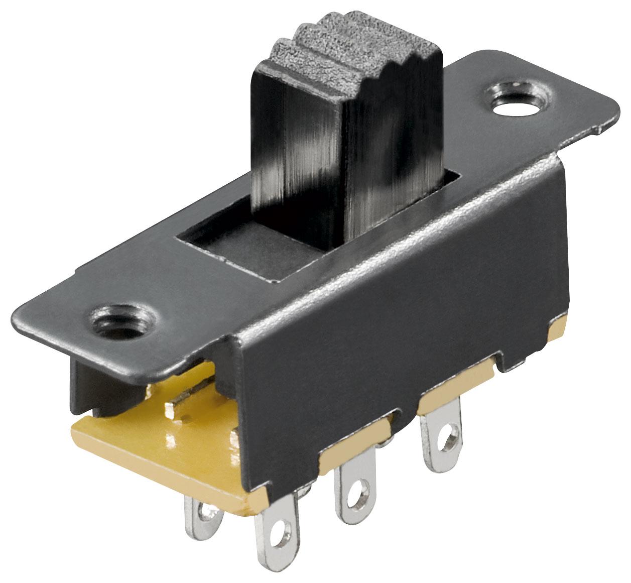50x-Schiebeschalter-6-Pins-2xUM-Lochabstaende-19-mm